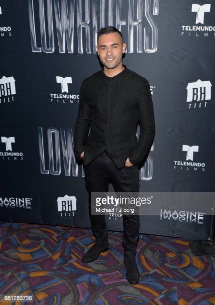 Actor Gabriel Chavarria attends the Los Angeles special screening of BH Tilt and Imagine's 'Lowriders' at LA LIVE on May 9 2017 in Los Angeles...