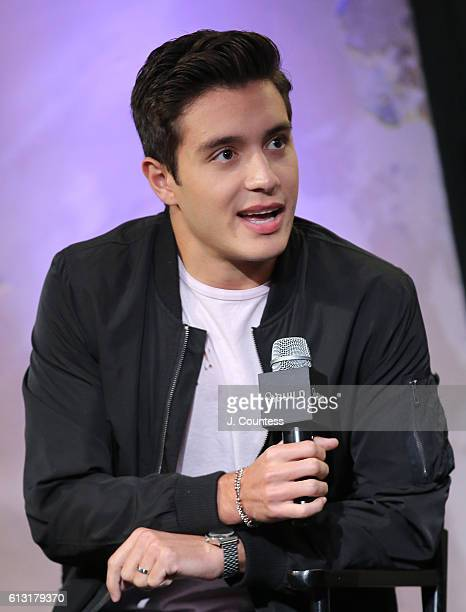 Actor Gabriel Conte attends The Build Series Presents Arden Rose Gabriel Conte And Jeremy Shada Discussing 'Mr Student Body President' at AOL HQ on...