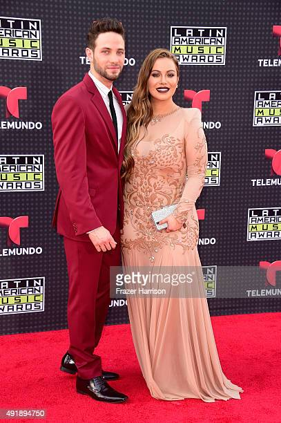 Actor Gabriel Coronel and singer Chiquis Rivera attend Telemundo's Latin American Music Awards at the Dolby Theatre on October 8 2015 in Hollywood...