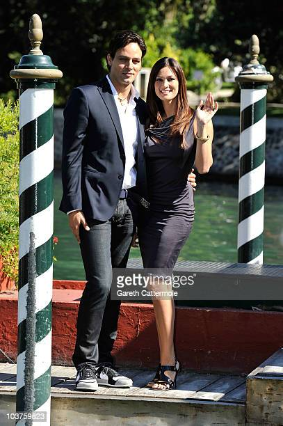 Actor Gabriel Garko and actress Manuela Arcuri attend the 67th Venice Film Festival on September 1 2010 in Venice Italy