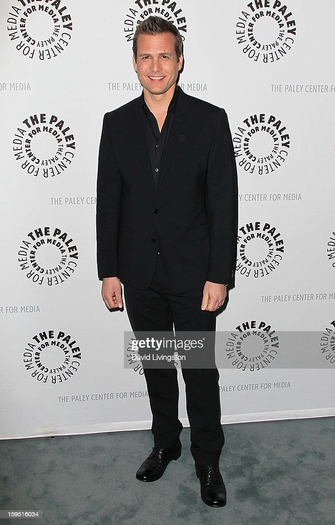 Actor <a gi-track='captionPersonalityLinkClicked' href=/galleries/search?phrase=Gabriel+Macht&family=editorial&specificpeople=240398 ng-click='$event.stopPropagation()'>Gabriel Macht</a> attends The Paley Center for Media's presentation of An Evening With 'Suits' at The Paley Center for Media on January 14, 2013 in Beverly Hills, California.