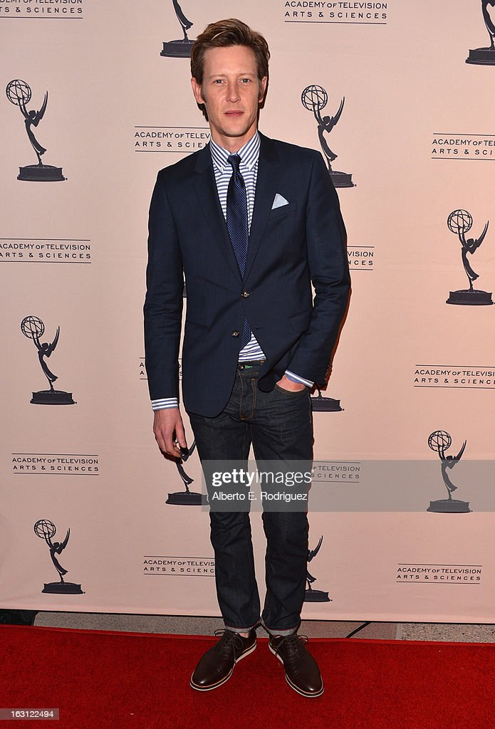 Actor Gabriel Mann arrives to the Academy of Television Arts and Sciences' An Evening with 'Revenge' at Leonard H. Goldenson Theatre on March 4, 2013 in North Hollywood, California.