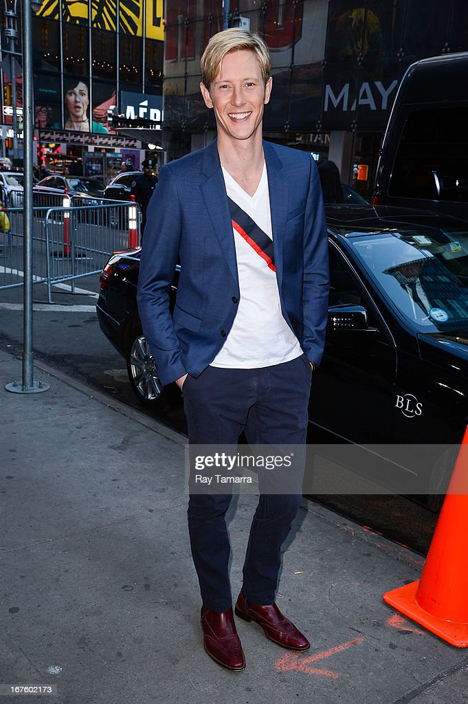 Actor Gabriel Mann leaves the 'Good Morning America' taping at the ABC Times Square Studios on April 26, 2013 in New York City.