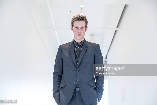 Actor Gabriel Mann poses backstage at the Philosophy by Natalie Ratabesi fashion show during MercedesBenz Fashion Week Spring 2014 at Roseland...