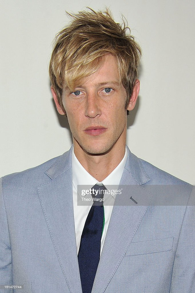Actor <a gi-track='captionPersonalityLinkClicked' href=/galleries/search?phrase=Gabriel+Mann&family=editorial&specificpeople=228956 ng-click='$event.stopPropagation()'>Gabriel Mann</a> poses backstage at the Tommy Hilfiger Men's Spring 2013 fashion show during Mercedes-Benz Fashion Week at Maritime Hotel on September 7, 2012 in New York City.