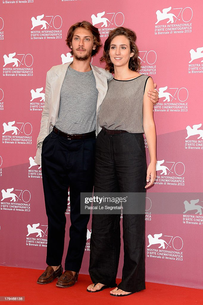Actor Gabriele Rendina and Livia Rossi attend 'L'Intrepido' Photocall during the 70th Venice International Film Festival at Palazzo del Casino on September 4, 2013 in Venice, Italy.