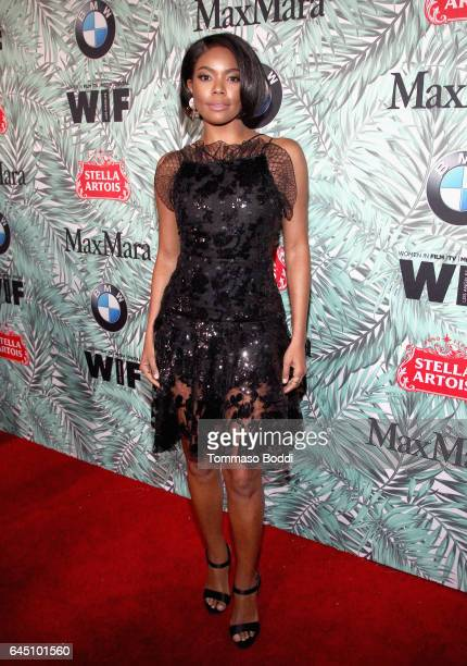 Actor Gabrielle Union attends the tenth annual Women in Film PreOscar Cocktail Party presented by Max Mara and BMW at Nightingale Plaza on February...