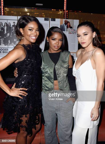 Actor Gabrielle Union Ryan Destiny and Chelsea Stone attend the tenth annual Women in Film PreOscar Cocktail Party presented by Max Mara and BMW at...