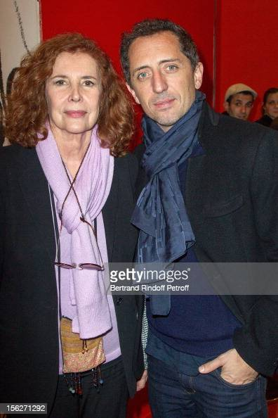 Actor Gad Elmaleh and producer Michele RayGavras attend 'Le Capital' premiere at Gaumont Parnasse on November 12 2012 in Paris France