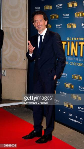 Actor Gad Elmaleh attends the 'TINTIN The Secret Of The Unicorn' World Premiere at Le Grand Rex on October 22 2011 in Paris France