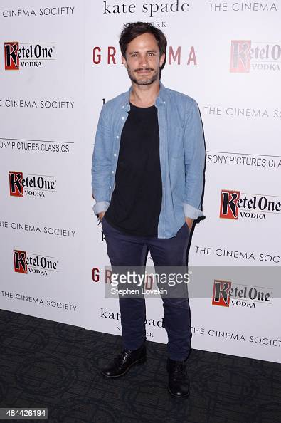 Actor Gael García Bernal attends a screening of Sony Pictures Classics' 'Grandma' hosted by The Cinema Society and Kate Spade at Landmark Sunshine...