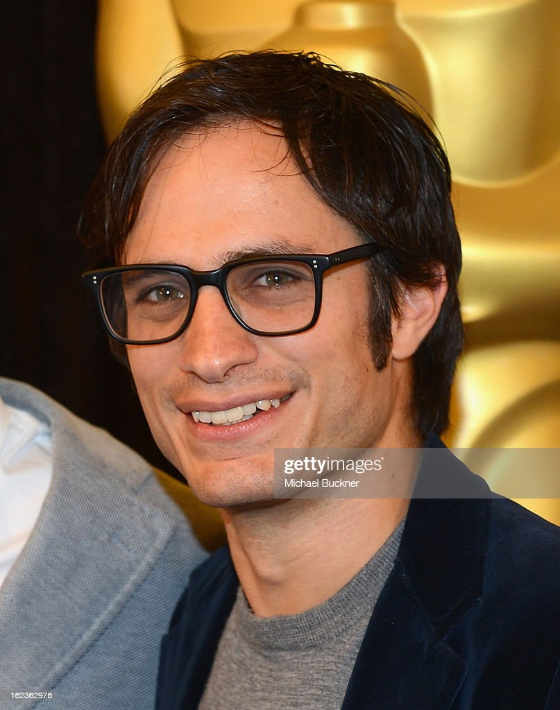 Actor Gael García Bernal of the film 'No,' nominee for the Foreign Language Film Award, poses for photographers at the Foreign Language Film Award Photo-Op for the 85th Annual Academy Awards at Hollywood & Highland Center on February 22, 2013 in Hollywood, California.