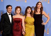 Actor Gael Garcia Bernal actress Bernadette Peters actress Lola Kirke and actress Saffron Burrows of 'Mozart in the Jungle' winner of the award for...