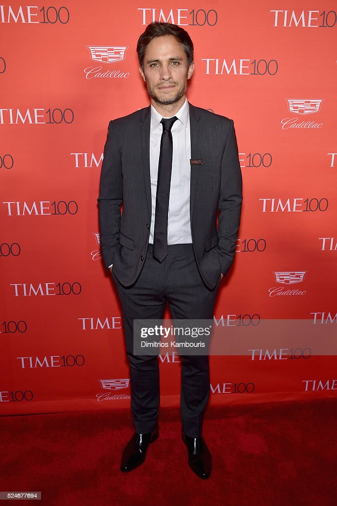 Actor Gael Garcia Bernal attends 2016 Time 100 Gala Time's Most Influential People In The World red carpet at Jazz At Lincoln Center at the Times...