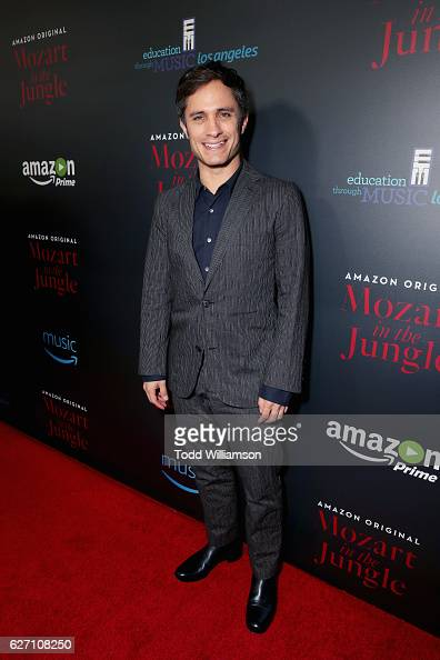 Actor Gael Garcia Bernal attends the 'Mozart In the Jungle' red Carpet premiere and concert held at The Grove on December 1 2016 in Los Angeles...
