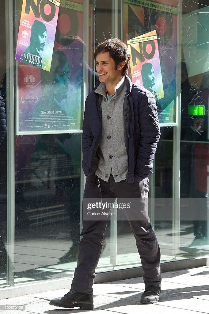 Actor Gael Garcia Bernal attends the 'No' photocall at the Golem cinema on February 7, 2013 in Madrid, Spain.