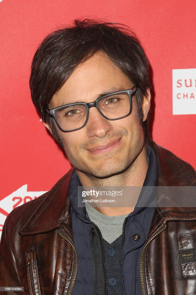 Actor Gael Garcia Bernal attends the 'No' premiere at The Marc Theatre during the 2013 Sundance Film Festival on January 18, 2013 in Park City, Utah.