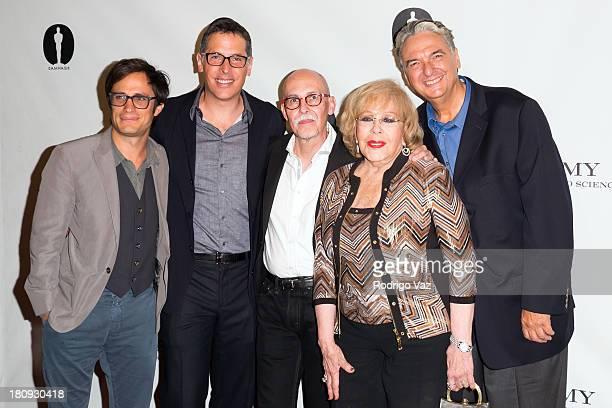 Actor Gael Garcia Bernal cinematographer Rodrigo Prieto Gabriel Figueroa Flores actress Silvia Pinal and director Gregory Nava attend The Academy of...
