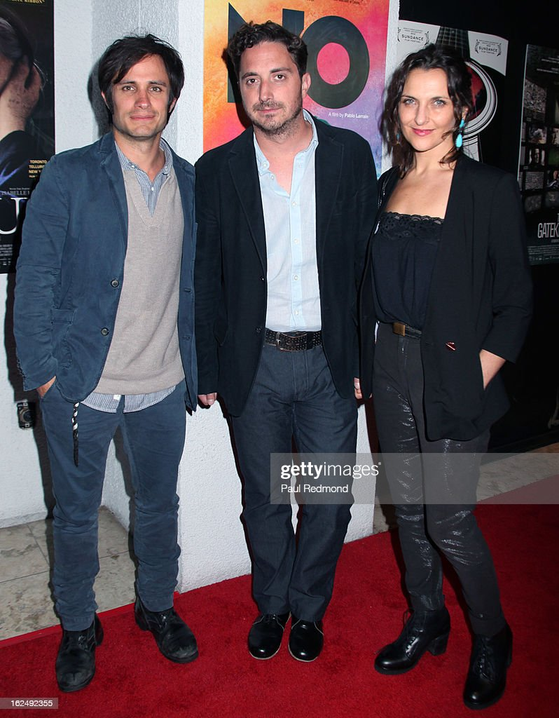 Actor <a gi-track='captionPersonalityLinkClicked' href=/galleries/search?phrase=Gael+Garcia+Bernal&family=editorial&specificpeople=202025 ng-click='$event.stopPropagation()'>Gael Garcia Bernal</a>, director <a gi-track='captionPersonalityLinkClicked' href=/galleries/search?phrase=Pablo+Larrain&family=editorial&specificpeople=5351700 ng-click='$event.stopPropagation()'>Pablo Larrain</a> and actress <a gi-track='captionPersonalityLinkClicked' href=/galleries/search?phrase=Antonia+Zegers&family=editorial&specificpeople=7173145 ng-click='$event.stopPropagation()'>Antonia Zegers</a> attend Sony Pictures Classics Pre-Oscar Dinner at The London Hotel on February 23, 2013 in West Hollywood, California.