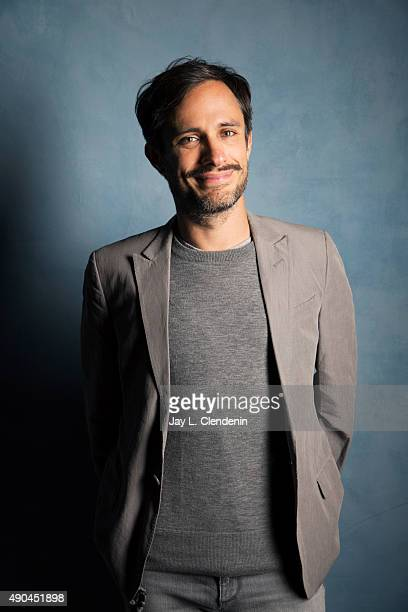 Actor Gael Garcia Bernal from the film 'Desierto' is photographed for Los Angeles Times on September 25 2015 in Toronto Ontario PUBLISHED IMAGE...