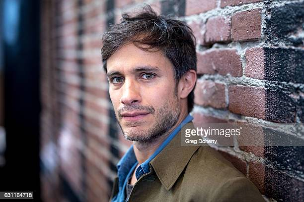 Actor Gael Garcia Bernal poses before the American Cinematheque Panel Discussion with Golden Globe Nominated ForeignLanguage Directors at the...