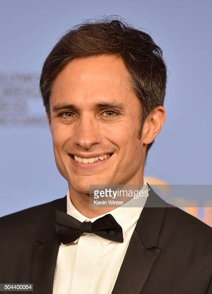 Actor Gael Garcia Bernal poses in the press room during the 73rd Annual Golden Globe Awards held at the Beverly Hilton Hotel on January 10 2016 in...