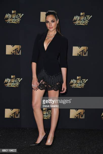 Actor Gal Gadot attends the 2017 MTV Movie and TV Awards at The Shrine Auditorium on May 7 2017 in Los Angeles California