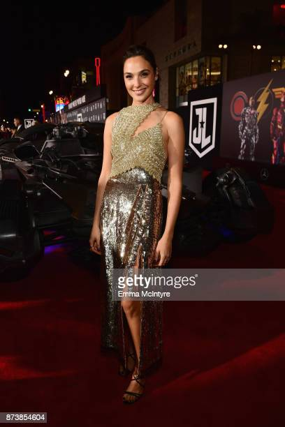 Actor Gal Gadot attends the premiere of Warner Bros Pictures' 'Justice League' at Dolby Theatre on November 13 2017 in Hollywood California