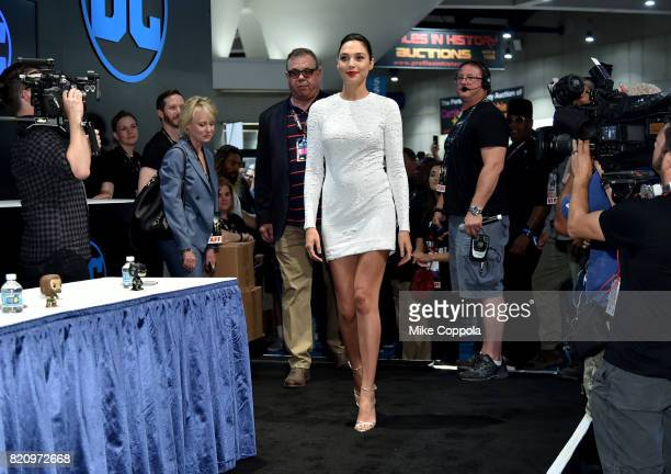 Actor Gal Gadot during the 'Justice League' autograph signing at ComicCon International 2017 at San Diego Convention Center on July 22 2017 in San...