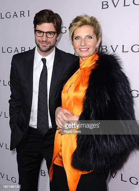 Actor Gale Harold and EVP of BVLGARI Sabina Belli arrive at the BVLGARI celebration of Elizabeth Taylor's collection of BVLGARI jewelry at BVLGARI...