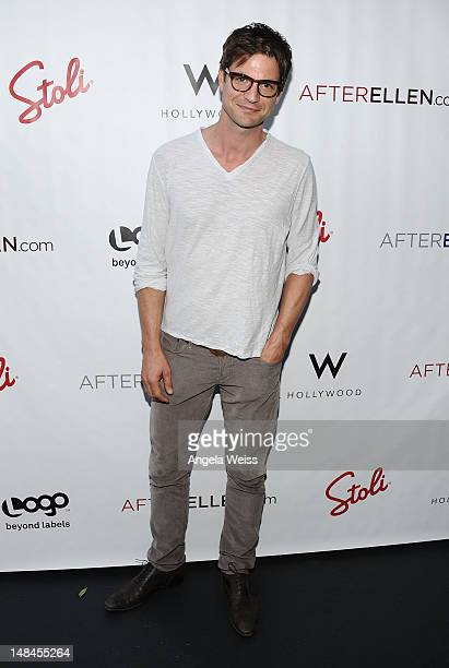 Actor Gale Harold attends Logo's AfterEllen AfterElton Inaugural 'Hot 100 Party' at Station Hollywood at W Hollywood Hotel on July 16 2012 in...