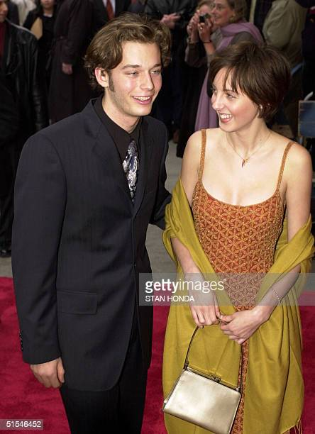 Actor Garret Strommen and Eva Sarandon daughter of actress Susan Sarandon arrive at the premiere of the movie 'I Dreamed of Africa' 18 April at the...