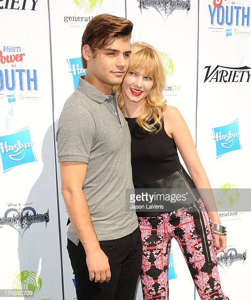 Actor Garrett Clayton and actress Claudia Lee attend Variety's 7th annual Power of Youth event at Universal Studios Hollywood on July 27 2013 in...
