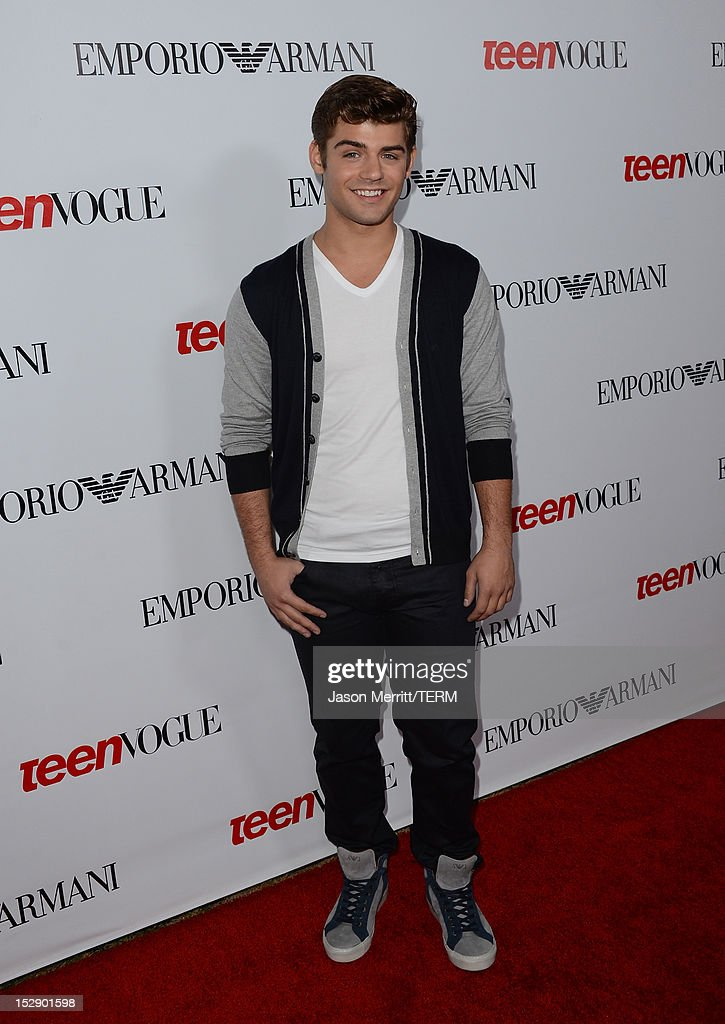 Actor Garrett Clayton arrives at Teen Vogue's 10th Anniversary young Hollywood party on September 27, 2012 in Beverly Hills, California.
