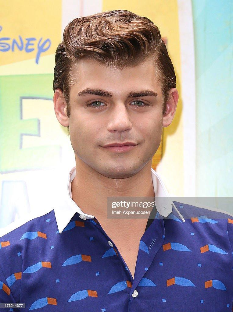 Actor Garrett Clayton attends the cast of 'Teen Beach Movie' reunion for movie night at Walt Disney Studios on July 10, 2013 in Burbank, California.