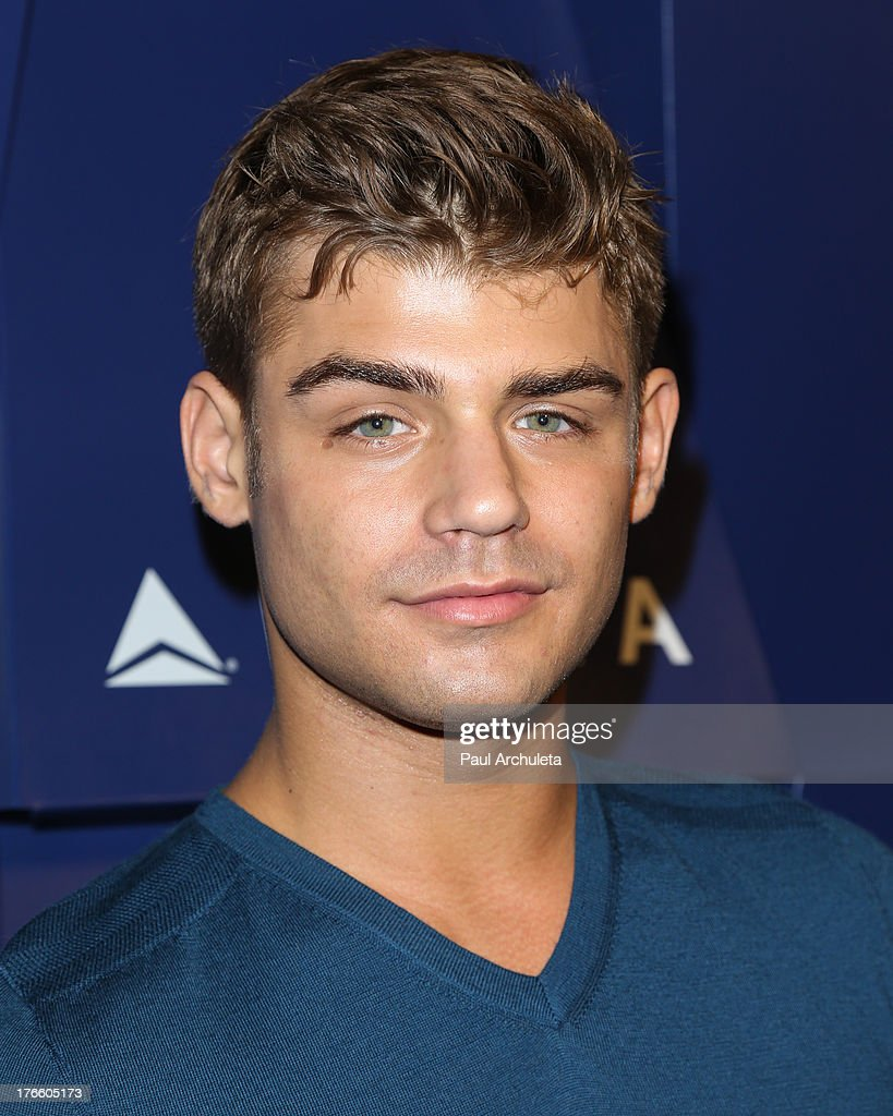 Actor <a gi-track='captionPersonalityLinkClicked' href=/galleries/search?phrase=Garrett+Clayton&family=editorial&specificpeople=9767833 ng-click='$event.stopPropagation()'>Garrett Clayton</a> attends the Delta Air Lines summer celebration In Beverly Hills on August 15, 2013 in Beverly Hills, California.