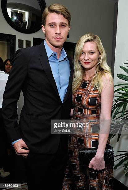 Actor Garrett Hedlund and actress Kirsten Dunst attend the W Magazine celebration of The 'Best Performances' Portfolio and The Golden Globes with...