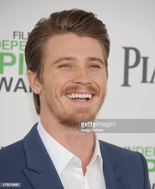 Actor Garrett Hedlund arrives at the 2014 Film Independent Spirit Awards on March 1 2014 in Santa Monica California