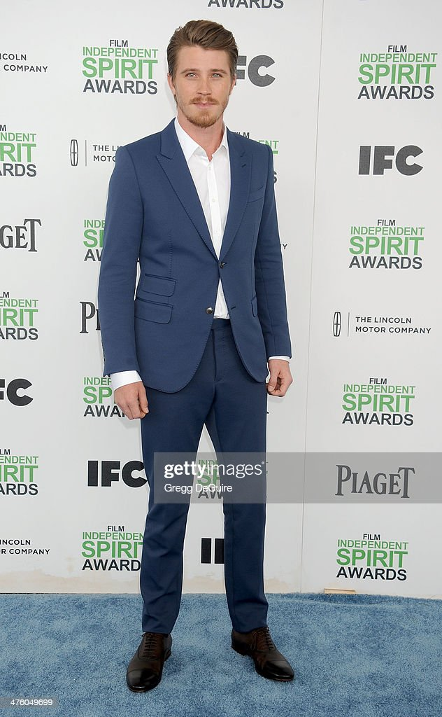 Actor <a gi-track='captionPersonalityLinkClicked' href=/galleries/search?phrase=Garrett+Hedlund&family=editorial&specificpeople=2290407 ng-click='$event.stopPropagation()'>Garrett Hedlund</a> arrives at the 2014 Film Independent Spirit Awards on March 1, 2014 in Santa Monica, California.