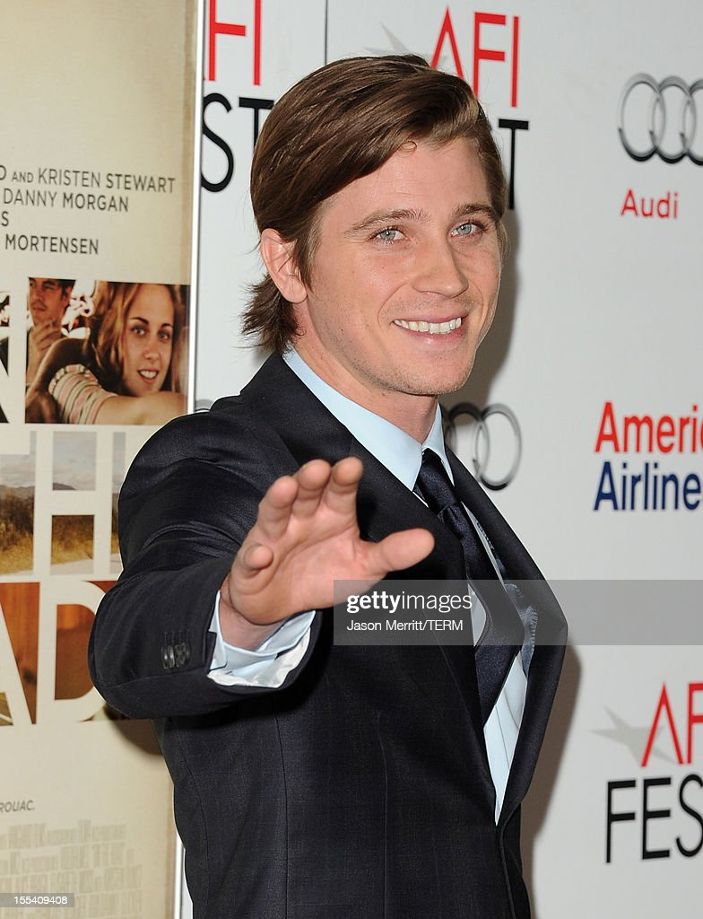 Actor <a gi-track='captionPersonalityLinkClicked' href=/galleries/search?phrase=Garrett+Hedlund&family=editorial&specificpeople=2290407 ng-click='$event.stopPropagation()'>Garrett Hedlund</a> arrives at the 'On The Road' premiere during the 2012 AFI Fest presented by Audi at Grauman's Chinese Theatre on November 3, 2012 in Hollywood, California.