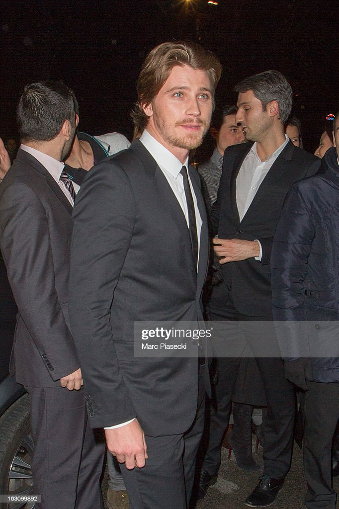 Actor <a gi-track='captionPersonalityLinkClicked' href=/galleries/search?phrase=Garrett+Hedlund&family=editorial&specificpeople=2290407 ng-click='$event.stopPropagation()'>Garrett Hedlund</a> arrives to attend the 'Saint Laurent' Fall/Winter 2013 Ready-to-Wear show as part of Paris Fashion Week on March 4, 2013 in Paris, France.
