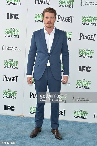Actor Garrett Hedlund attends the 2014 Film Independent Spirit Awards at Santa Monica Beach on March 1 2014 in Santa Monica California