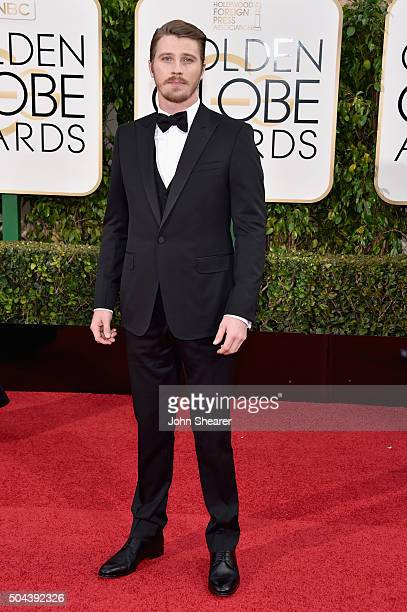 Actor Garrett Hedlund attends the 73rd Annual Golden Globe Awards held at the Beverly Hilton Hotel on January 10 2016 in Beverly Hills California