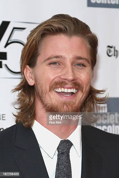 Actor Garrett Hedlund attends the 'Inside Lleywn Davis' premiere during the 51st New York Film Festival at Alice Tully Hall at Lincoln Center on...
