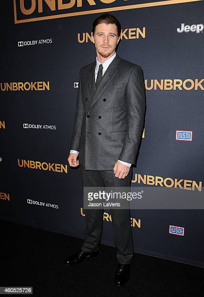 Actor Garrett Hedlund attends the premiere of 'Unbroken' at TCL Chinese Theatre IMAX on December 15 2014 in Hollywood California