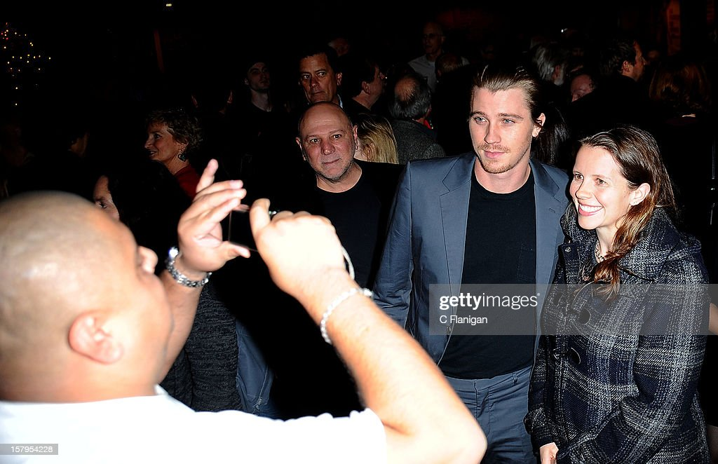 Actor <a gi-track='captionPersonalityLinkClicked' href=/galleries/search?phrase=Garrett+Hedlund&family=editorial&specificpeople=2290407 ng-click='$event.stopPropagation()'>Garrett Hedlund</a> meets with fans during the 'On the Road' Vanity Fair Screening presented by Hugo Boss at Skywalker Ranch on December 7, 2012 in San Francisco, California.