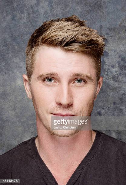 Actor Garrett Hedlund of 'Pan' poses for a portrait at ComicCon International 2015 for Los Angeles Times on July 9 2015 in San Diego California...
