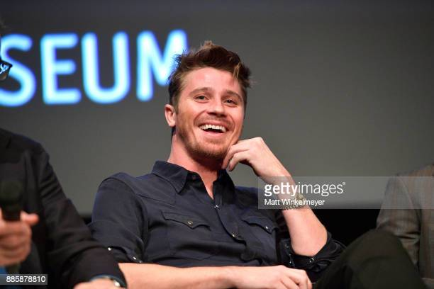 Actor Garrett Hedlund speaks onstage during the Hammer Museum presents The Contenders 2017 'Mudbound' at Hammer Museum on December 4 2017 in Los...