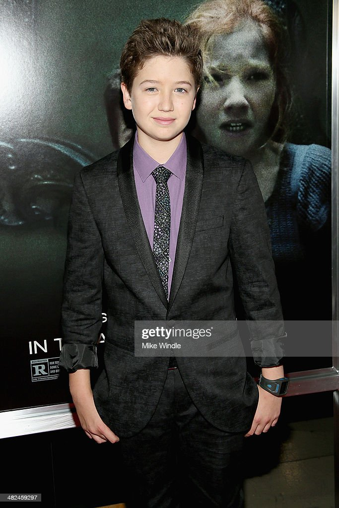 Actor Garrett Ryan arrives at the screening of Relativity Media's 'Oculus' at TCL Chinese 6 Theatres on April 3, 2014 in Hollywood, California.