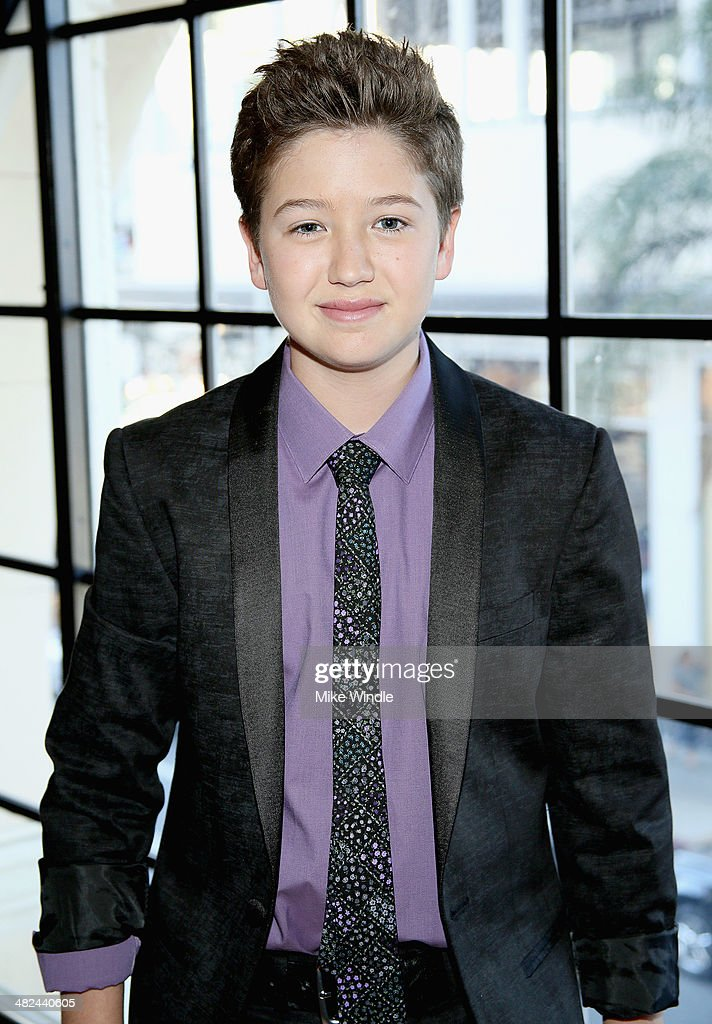 Actor Garrett Ryan attends the pre-reception for the screening of Relativity Media's 'Oculus' at The Roosevelt Hotel on April 3, 2014 in Hollywood, California.